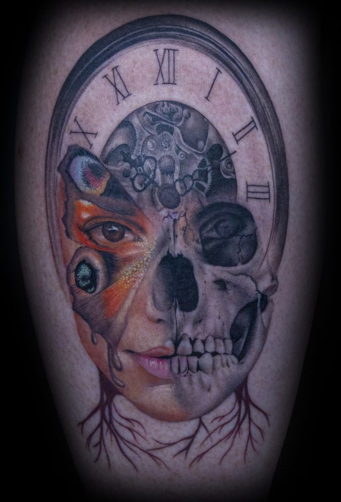 Emily Graven Tattoo Artist black and grey and color custom tattoo
